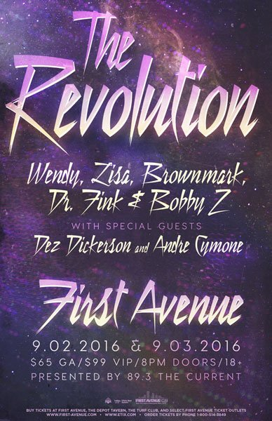 The Revolution reunite for two tribute shows