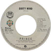 Dirty Mind single from Dirty Mind, Warner Bros. Records (1980)
