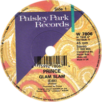 Glam Slam single from Lovesexy, Paisley Park Records (1988)