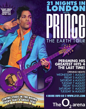 The Earth Tour, Prince