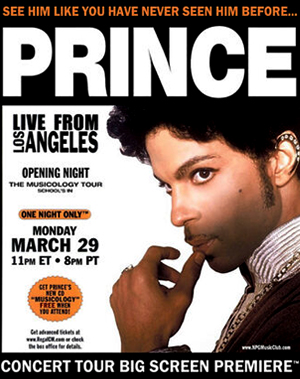 Musicology Live 2004ever, Prince